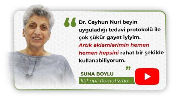 İltihaplı Romatizma Hastamız Suna Boylu'ya ait doktor, klinik ve tedavi açıklamaları